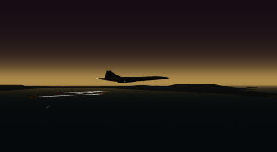 Concorde at dawn on OYS