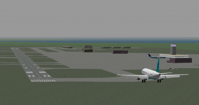 TFan is taxing in the Global jet while I land the THI A321.