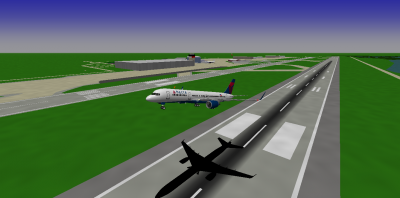 A Delta 757 (Decaff_42) is taking off at Venice-Marco Polo International Airport.