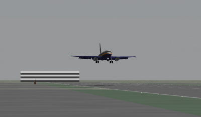 My landing was a little late due to my inability to judge altitude and heading during crosswind conditions.