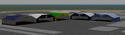 VA Hangars (l to r): NCA, Moa, Abel Jets, World Airlines, and MahouAir
