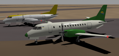 Fleet Air Saab 340A Cargo South Airline Saab 340B.png