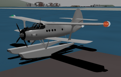 An-2V with pontoons.