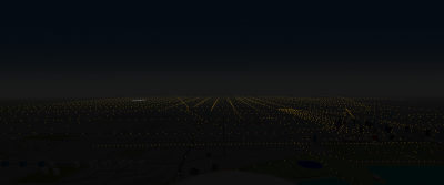 The Chicago Metro area while heading west to intercept the RWY 22L localizer at MDW. MDW is the area of white lights at the left.