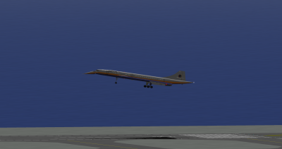Me landing the Concorde at Haneda.