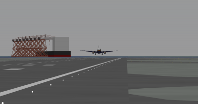 Tfan landing the 777 at Haneda.