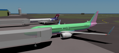 Turbofan and I parked at Lihue after flying in from HNL.