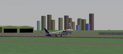 Me taking off in the Fedex 767-300ERF to Knoxville McGhee-Tyson (TYS). The Memphis skyline serves as a nice backdrop.