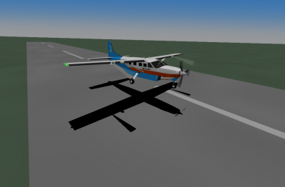 Landing at San Andros went pretty well with a 6kt wind.  The runway was 12, wind from the east.