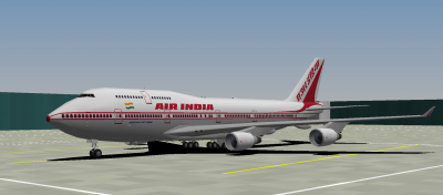 Air India 747-400 at LHR Terminal 2 (AI doesn't fly the 744 to LHR any longer in real life, just FYI :P)