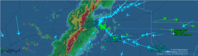 DFW flight map courteousy of FlightAware