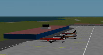 Turbofan (Stellar 757), Me (NatComAir 757), and Decaff (Stellar CS100).