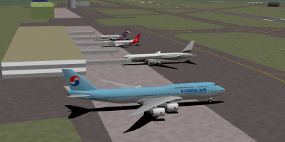 Daishi (KAL 748I), decaff, Welshy (QF 738) and I at the Lihue terminal after landing from HNL. I had to resume my flight from the nearby Barking Sands airfield after I got kicked off just prior to landing. :P
