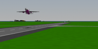 I lift off RWY 28 at Misawa while Daishi gets ready to go behind me in the DL 757-200.