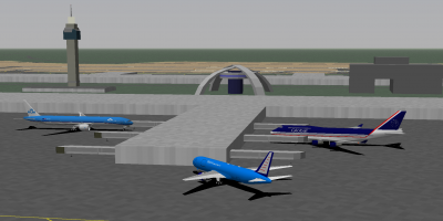 Hornet (KLM 77W), Neocon (Global Freightways 763ERF) and I after landing at LAX. Shades of blue!