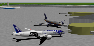 I flew the ANA Star Wars 789, decaff flew the NCA 744.