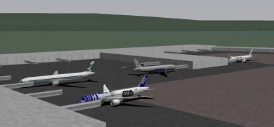 Additionally, Patrick joined us in the NCA 772ER. Here are all three (four) of us at the HNL terminal.
