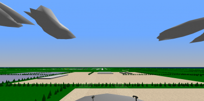 Short final to RWY 09. This time with a much frame-rate heavier NCA 747-400, still getting 50 FPS or higher.