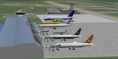 A Pastel shine in the Global 388, decaff in the Ohana Legacy 600 and myself in the Abel Jets 727-200 Advanced at Oriente International Airport.