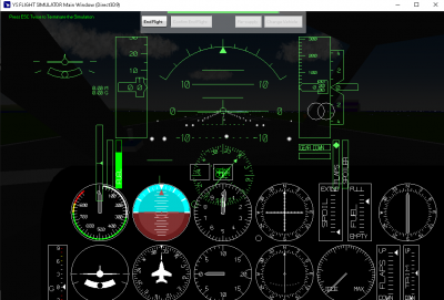 Instrument pannel when HUD is off... the lights can be activated by toggling velocity indicator on/off