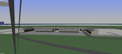 Looking west at Terminal 2 and the new 18R-36L.