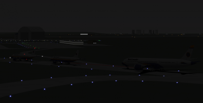 Lined up on the taxiway.