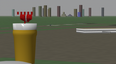 A view of the mostly-inaccurate Memphis skyline from beside the VAS Radar Pint.