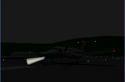Beech King Air B200 taxi @ Elkins for a flight to Wheeling.png