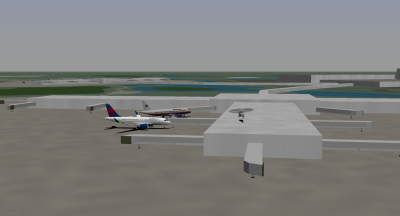 Me (NCA 320), Barracuz (Delta), and Greenhorn (NCA Helicopter) at Orlando.