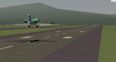 Me landing, Turbofan in the distance.