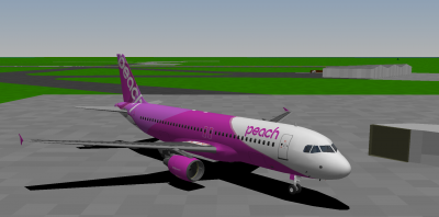 Me starting out at Misawa Airport in the Peach 320-200 (Peach is a real-life Japanese LCC btw).