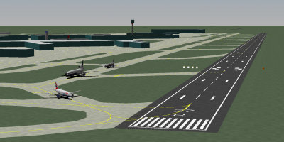Decaff about to enter RWY 27R at LHR as Welshy (BA L1011-500) and Lt. Owen wait in the queue. I'm the one taxiing from the far end of the airport in the distance :P.