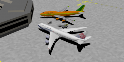 Me (in the Abel 744), decaff (in the CI 748I) and Welshy (in the Hornet) at MXA's Terminal 2 after a flight from MLA. Fun times!